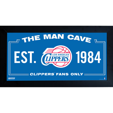 Los Angeles Clippers Man Cave Sign 6x12 Framed Photo - Steiner Sports - Dropship Direct Wholesale