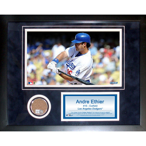 Andre Ethier 11x14 Framed Mini Dirt Collage - Steiner Sports - Dropship Direct Wholesale