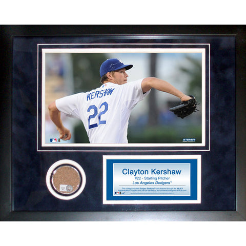 Clayton Kershaw 11x14 Mini Dirt Collage - Steiner Sports - Dropship Direct Wholesale