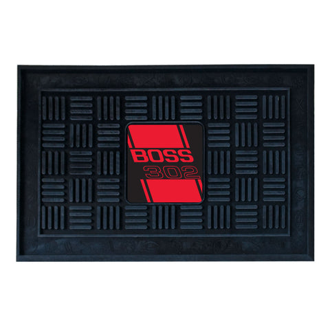 Boss 302 Medallion Door Mat - Red - FANMATS - Dropship Direct Wholesale - 1