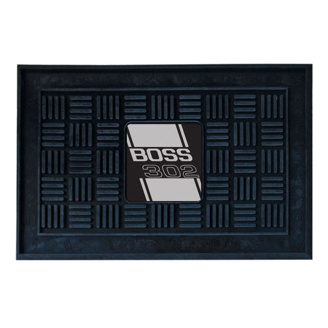 Boss 302 Medallion Door Mat - Gray - FANMATS - Dropship Direct Wholesale - 1
