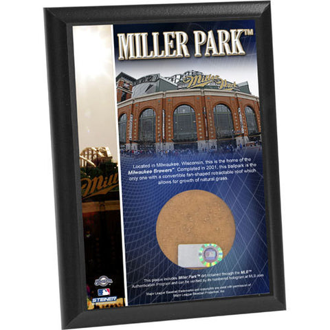 Miller Park 4x6 Dirt Plaque - Steiner Sports - Dropship Direct Wholesale