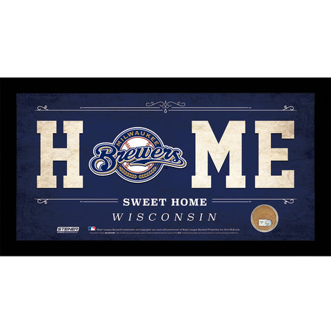 Milwaukee Brewers 10x20 Home Sweet Home Sign with Game-Used Dirt from Miller Park - Steiner Sports - Dropship Direct Wholesale