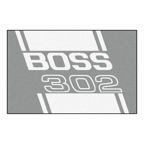 Boss 302 Starter Rug 19x30 - Gray - FANMATS - Dropship Direct Wholesale - 1