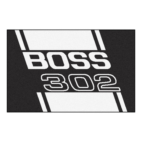 Boss 302 Starter Rug 19x30 - Black - FANMATS - Dropship Direct Wholesale - 1