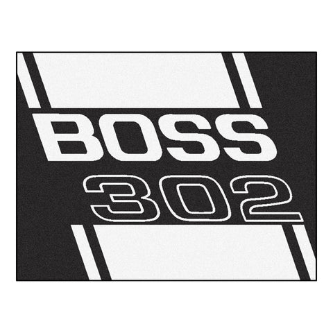 Boss 302 All-Star Mat 33.75x42.5 - Black - FANMATS - Dropship Direct Wholesale - 1