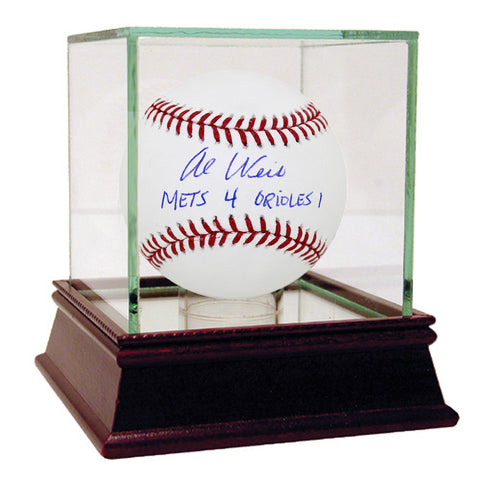 Al Weis Signed MLB Baseball w Mets 4 Orioles 1 Insc - Steiner Sports - Dropship Direct Wholesale