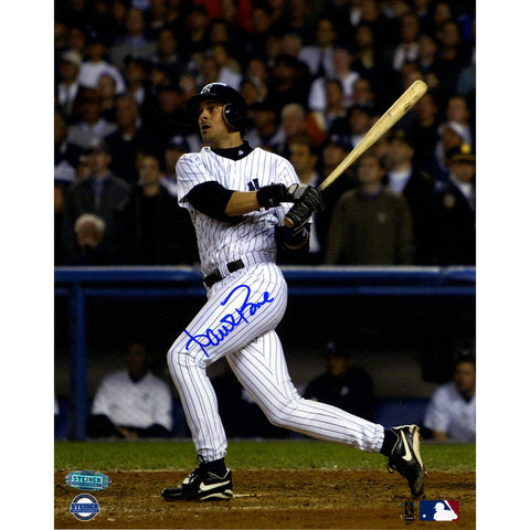 Aaron Boone 2003 ALCS GW HR vs Red Sox Swing 8x10 Vertical Photo (Signed In Blue) - Steiner Sports - Dropship Direct Wholesale
