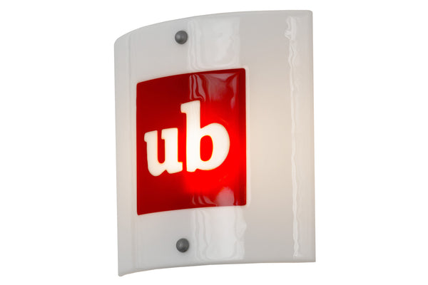 11 Inch Sq Metro Fusion Personalized Ub Logo Wall Sconce - Meyda - Dropship Direct Wholesale