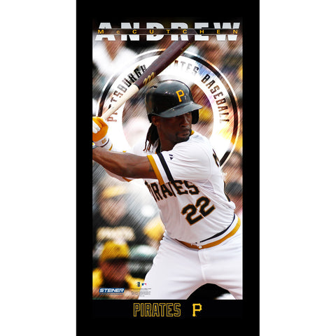 Andrew McCutchen Pittsburgh Pirates Player Profile Wall Art 9.5x19 Framed Photo - Steiner Sports - Dropship Direct Wholesale