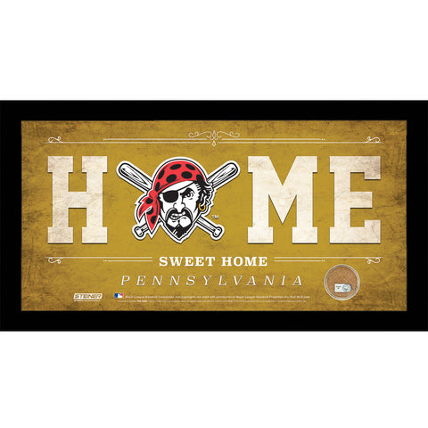 Pittsburgh Pirates 10x20 Home Sweet Home Sign with Game-Used Dirt from PNC Park - Steiner Sports - Dropship Direct Wholesale