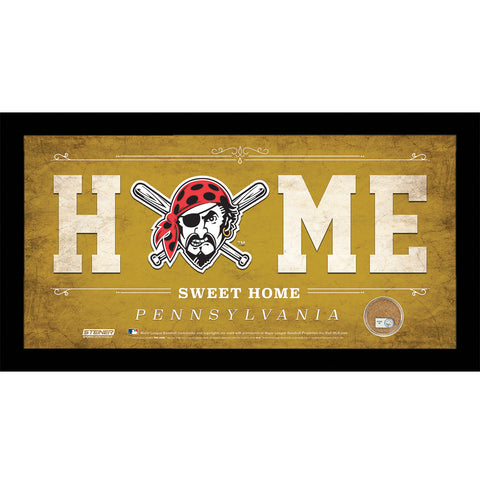 Pittsburgh Pirates 6x12 Home Sweet Home Sign with Game-Used Dirt from PNC Park - Steiner Sports - Dropship Direct Wholesale