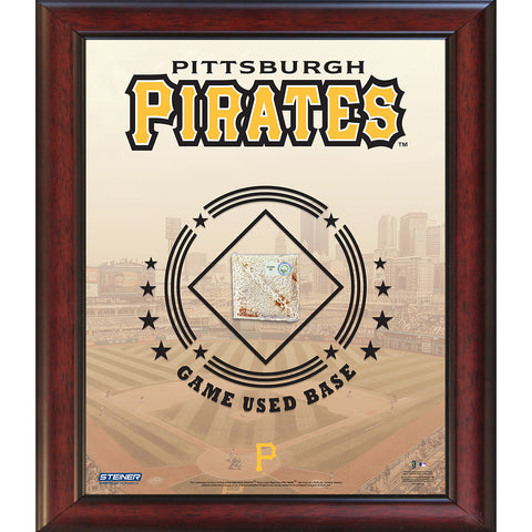 Pittsburgh Pirates Game Used Base 11x14 Stadium Collage - Steiner Sports - Dropship Direct Wholesale