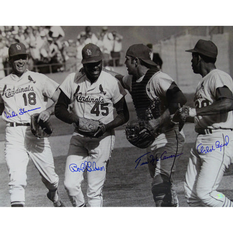 St. Louis Cardinals 16x20 Photo Signed (Bob Gibson Tim McCarver Mike Shannon Orlando Cepeda) - Steiner Sports - Dropship Direct Wholesale