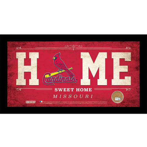St. Louis Cardinals 6x12 Home Sweet Home Sign with Game-Used Dirt from Busch Stadium - Steiner Sports - Dropship Direct Wholesale