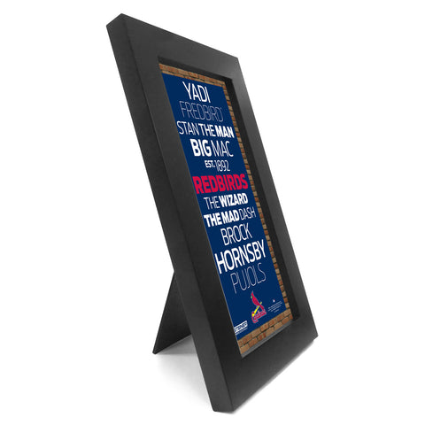 St. Louis Cardinals Desktop Wall Hangable Subway Sign 4x8 Framed Photo - Steiner Sports - Dropship Direct Wholesale