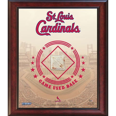 St. Louis Cardinals Game Used Base 11x14 Stadium Collage - Steiner Sports - Dropship Direct Wholesale