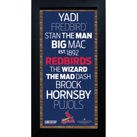 St. Louis Cardinals Subway Sign 6x12 Framed Photo - Steiner Sports - Dropship Direct Wholesale