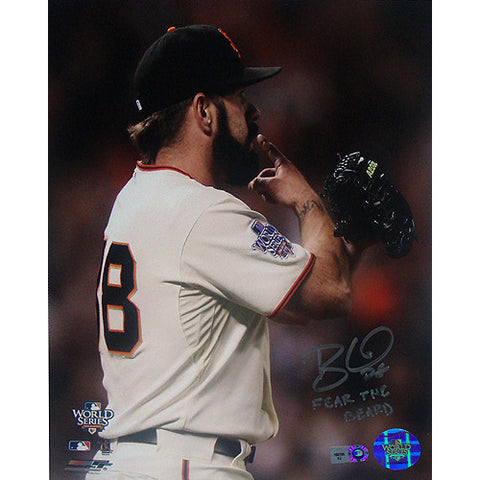 Brian Wilson San Francisco Giants Pointing 8x10 wFear The Beard Insc (MLB Auth) - Steiner Sports - Dropship Direct Wholesale