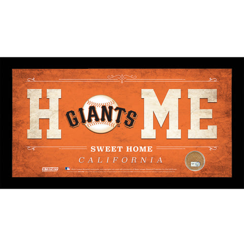 San Francisco Giants 10x20 Home Sweet Home Sign with Game-Used Dirt from AT&T Park - Steiner Sports - Dropship Direct Wholesale