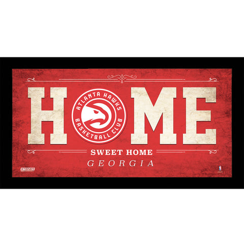 Atlanta Hawks 6x12 Home Sweet Home Sign - Steiner Sports - Dropship Direct Wholesale