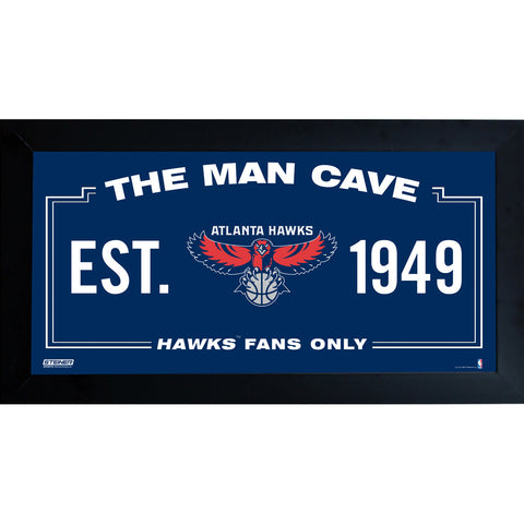 Atlanta Hawks Man Cave Sign 6x12 Framed Photo - Steiner Sports - Dropship Direct Wholesale