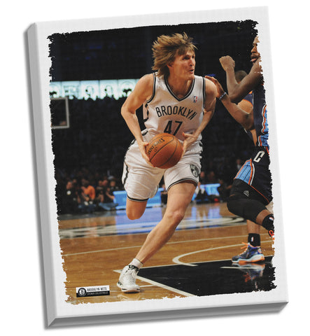 Andrei Kirilenko Nets Stretched 32x40 Canvas - Steiner Sports - Dropship Direct Wholesale