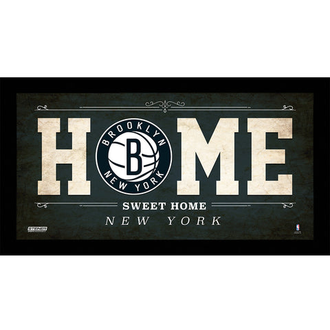 Brooklyn Nets 6x12 Home Sweet Home Sign w Game Used Net - Steiner Sports - Dropship Direct Wholesale