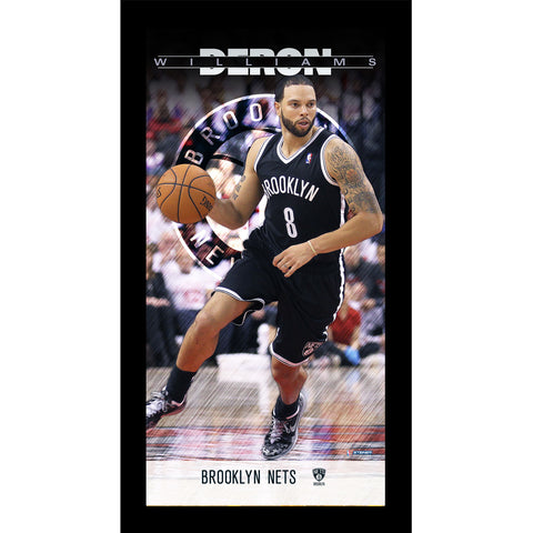 Deron Williams Brooklyn Nets Player Profile Wall Art 9.5x19 Framed Photo - Steiner Sports - Dropship Direct Wholesale