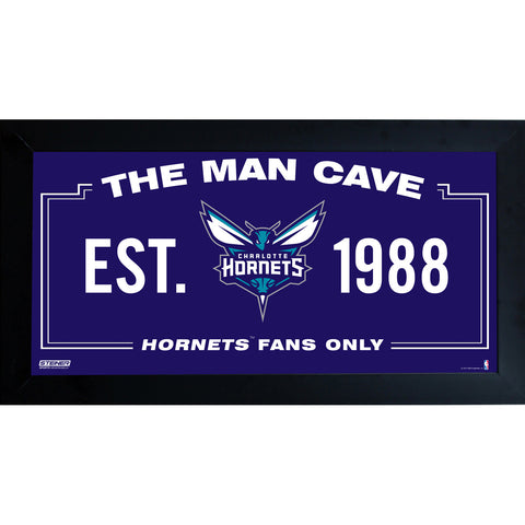 Charlotte Hornets Man Cave Sign 6x12 Framed Photo - Steiner Sports - Dropship Direct Wholesale