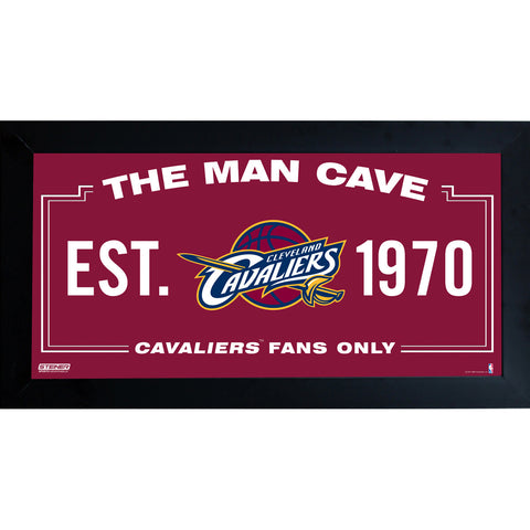 Cleveland Cavaliers Man Cave Sign 10x20 Framed Photo - Steiner Sports - Dropship Direct Wholesale