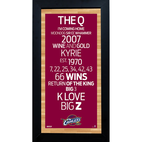Cleveland Cavaliers Subway Sign 6x12 Framed Photo - Steiner Sports - Dropship Direct Wholesale