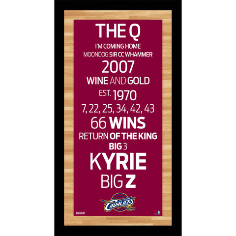 Cleveland Cavaliers Subway Sign Wall Art 9.5x19 Photo - Steiner Sports - Dropship Direct Wholesale