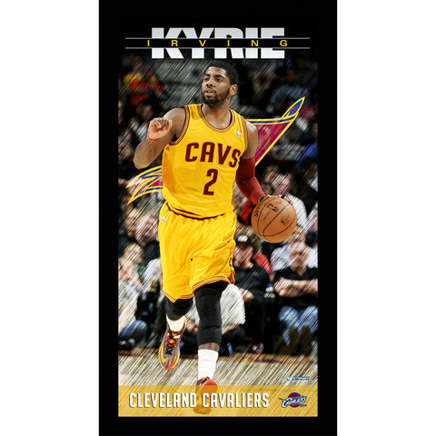 Kyrie Irving Cleveland Cavaliers Player Profile Wall Art 9.5x19 Framed Photo - Steiner Sports - Dropship Direct Wholesale