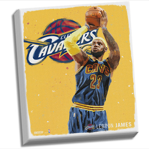 Lebron James Digital Painting 22x26 Canvas - Steiner Sports - Dropship Direct Wholesale