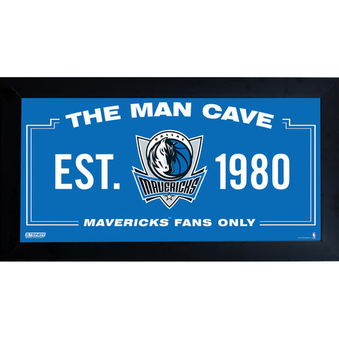 Dallas Mavericks Man Cave Sign 10x20 Framed Photo - Steiner Sports - Dropship Direct Wholesale