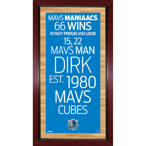Dallas Mavericks Subway Sign Wall Art 16x32 Photo - Steiner Sports - Dropship Direct Wholesale
