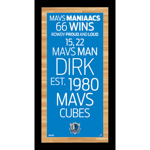 Dallas Mavericks Subway Sign Wall Art 9.5x19 Photo - Steiner Sports - Dropship Direct Wholesale
