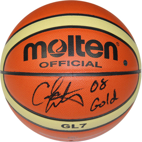 Carmelo Anthony Molten FIBA Official Olympic Basketball w 2008 Gold Insc. - Steiner Sports - Dropship Direct Wholesale