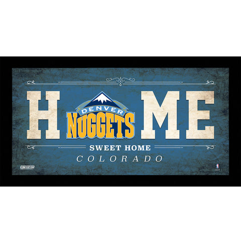 Denver Nuggets 6x12 Home Sweet Home Sign - Steiner Sports - Dropship Direct Wholesale