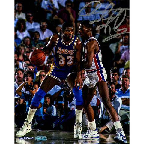 Dennis Rodman Signed Defending Magic Johnson 1989 NBA Finals 8x10 Photo - Steiner Sports - Dropship Direct Wholesale