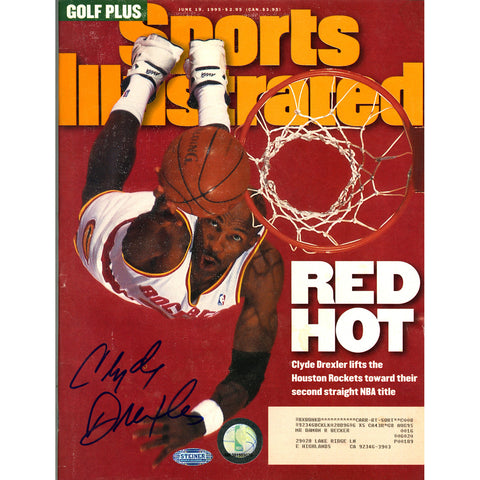 Clyde Drexler Signed 61995 Sports Illustrated Magazine - Steiner Sports - Dropship Direct Wholesale