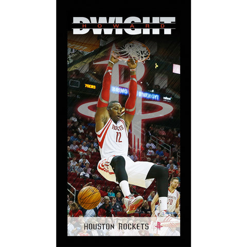 Dwight Howard Houston Rockets Player Profile Wall Art 9.5x19 Framed Photo - Steiner Sports - Dropship Direct Wholesale
