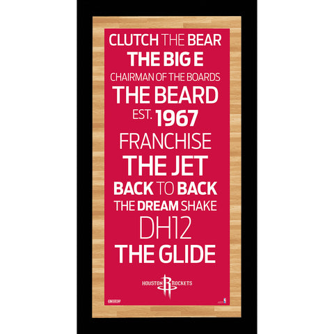 Houston Rockets Subway Sign Wall Art 9.5x19 Photo - Steiner Sports - Dropship Direct Wholesale