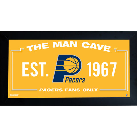 Indiana Pacers Man Cave Sign 6x12 Framed Photo - Steiner Sports - Dropship Direct Wholesale
