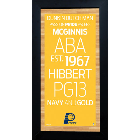 Indiana Pacers Subway Sign 6x12 Framed Photo - Steiner Sports - Dropship Direct Wholesale