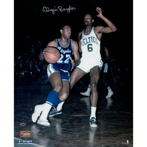 Elgin Baylor Signed vs. Bill Russell 16x20 Photo - Steiner Sports - Dropship Direct Wholesale