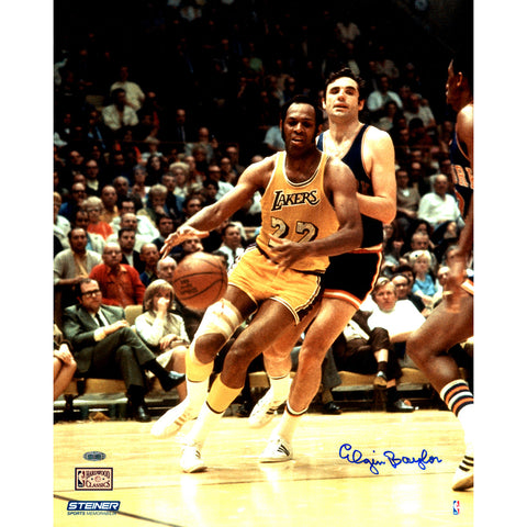 Elgin Baylor Signed vs. Knicks 16x20 Metallic Photo - Steiner Sports - Dropship Direct Wholesale