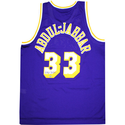Kareem Abdul-Jabbar Signed Lakers Purple Adidas Jersey - Steiner Sports - Dropship Direct Wholesale