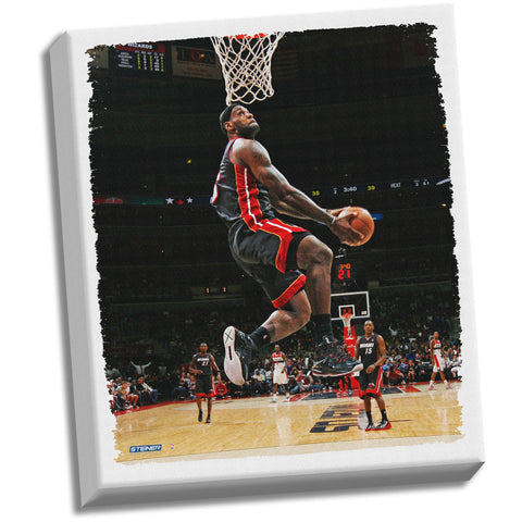 Lebron James Dunk Stretched 22x26 Canvas - Steiner Sports - Dropship Direct Wholesale